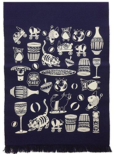 NASKA 生地 前掛け帆布 きりことおもちゃ 縁起物 帆布 綿100% 約47cm幅×70cm EN305 手芸・ハンドメイド用品