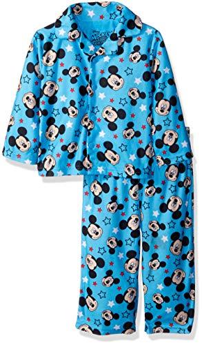 Disney Baby Boys Mickey Mouse 2-Piece Pajama Coat Set, Stars/Smiles 12M