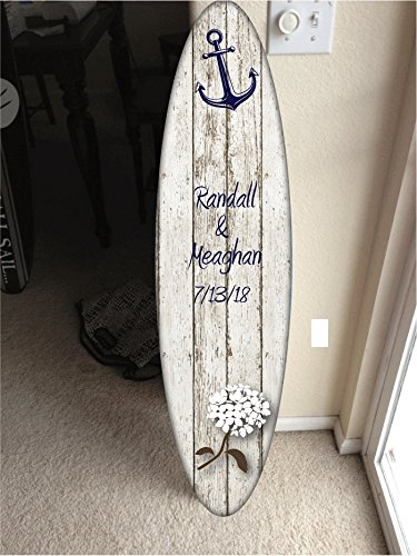 Wall hanging surfboard decor, Hawaiian decor by Rad Grafix