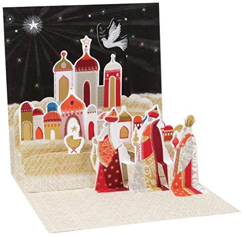 (Pop-up Christmas Card Trearures by Popshots Studios - Three Wise Men)
