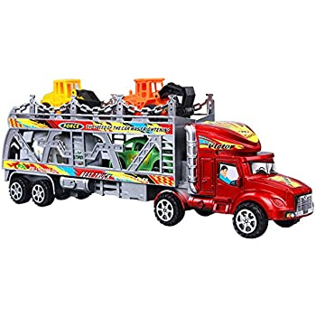 car transporter toy for boys girls tg664 cool toy truck with 12 cars and many. Black Bedroom Furniture Sets. Home Design Ideas
