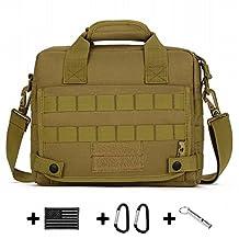 HYOUSANN Military Style 10 inch Tablets Shoulder Messenger Bag Molle Handbag