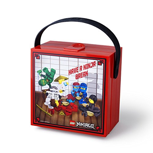 Lego Ninjago Box With Handle Bright Red