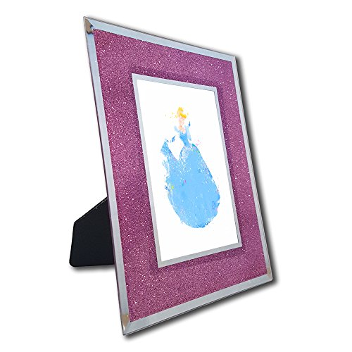 [Princess Cinderella Photo in Pink Glitter Frame - Disney Watercolor Collector Print] (Cinderella Stepmother Costumes)