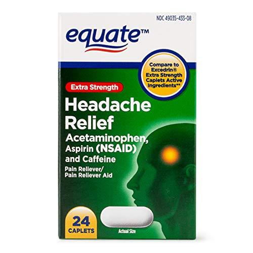 Equate Extra Strength Headache Relief Acetaminophen, Aspirin, Caffeine 24 Caplets