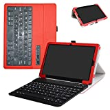 Huawei MediaPad M5 10.8 Bluetooth Keyboard Case,Mama Mouth Slim Stand PU Leather Cover with Romovable Bluetooth Keyboard for Huawei MediaPad M5 / M5 Pro 10.8'' 2018 Android Tablet,Red