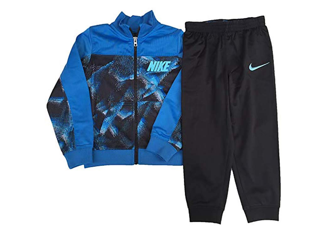 Nike Boy's Futura Tricot Jacket and Pants Set (Light Photo Blue(76C624-B68)/Camo Blue, 4)