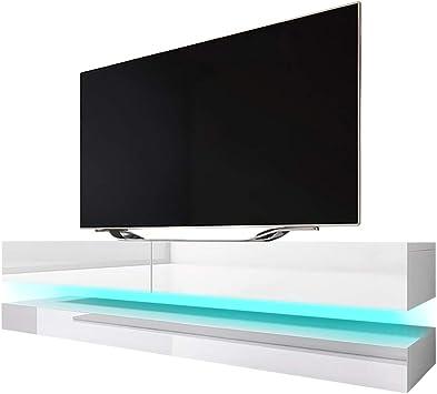 Aviator - Mueble para TV (Efecto Flotante, con LED Azul, Blanco ...