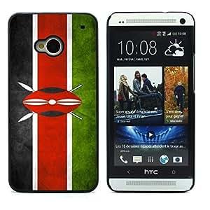 Graphic4You Vintage Kenyan Flag of Kenya Design Hard Case Cover for HTC One (M7) by icecream design