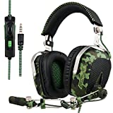 SADES SA926T Stereo Gaming Headset for Xbox One, PC, PS4 Over-Ear Headphones with Noise Canceling Mic, Soft Ear Cushion, 3.5mm Jack Plug Cable for Mac Laptop Tablet Smartphone