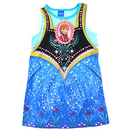 Frozen Anna Girls Poly Nightgown Pajamas with Capelet (2T)