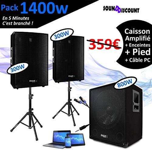 Pack de sonido + caja de graves + patas + cables HP y PC incluidos ...