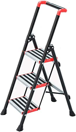 XSJZ Escaleras telescópicas Escalera Plegable para El Hogar, Aleación de Aluminio Gruesa, Diseño de Elevación d Pasamanos, Escalera Móvil En Espiga para Interiores Escalera Mecánica Multifuncional Esc: Amazon.es: Hogar