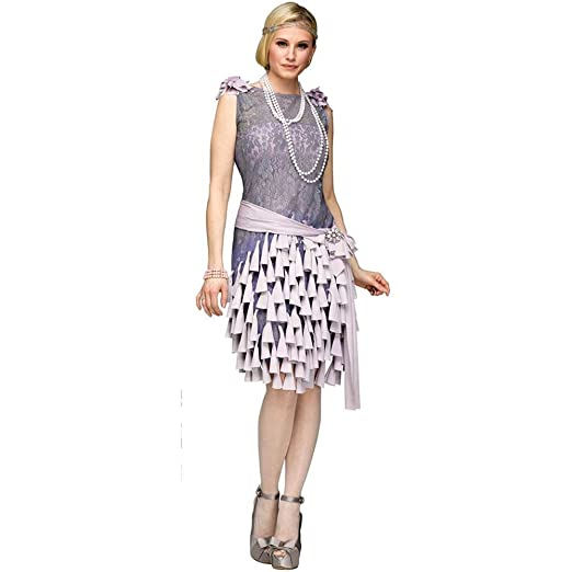 Roaring 20s Costumes- Flapper Costumes, Gangster Costumes Fun World Womens The Great Gatsby-Daisy Buchanan Bluebells Costume $61.24 AT vintagedancer.com