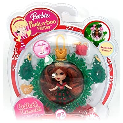 Barbie Peekaboo Petites Snowflake Flurries Doll Collection - #31 Holiday Joy: Toys & Games