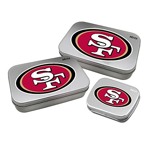 Sugar Francisco 49ers San - Worthy Promotional NFL San Francisco 49ers Decorative Mint Tin 3-Pack with Sugar-Free Mini Peppermint Candies
