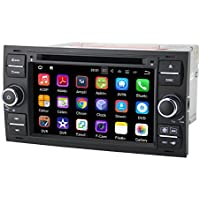 QSICISL 2 din Android 7.1 Car DVD GPS for Ford Old Focus Kuga Transit Galaxy Fusion C-MAX S-MAX Fiesta Mondeo Connect Wifi 3G GPS Bluetooth Radio RDS SD Steering Wheel Control GPS Navigation