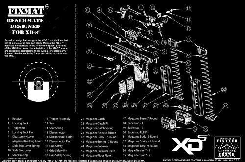 Springfield XDs diagram FIXMat BenchMate 11 X 17 Handgun Cle