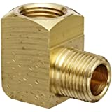 "Eaton Weatherhead Brass CA360 Fitting, 90 Degree Elbow, 3/8"" NPT Female x 3/8"" NPT Male"