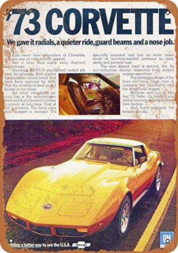 Wall-Color 7 x 10 METAL SIGN - 1973 Corvette - Vintage Look Reproduction 3