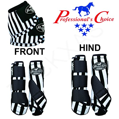Professional Choice MED Horse Sports Front HIND Bell Boots 6 Pack Jail Break