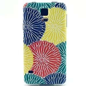 LHY Multicolor Chrysanthemum Flowers Pattern Ultrathin TPU Soft Case for Samsung Galaxy S5 Mini