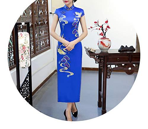 押し下げる包帯リーンチャイナドレス長い衣装エレガントなスリムレトロドレス,チャイナドレスG,M