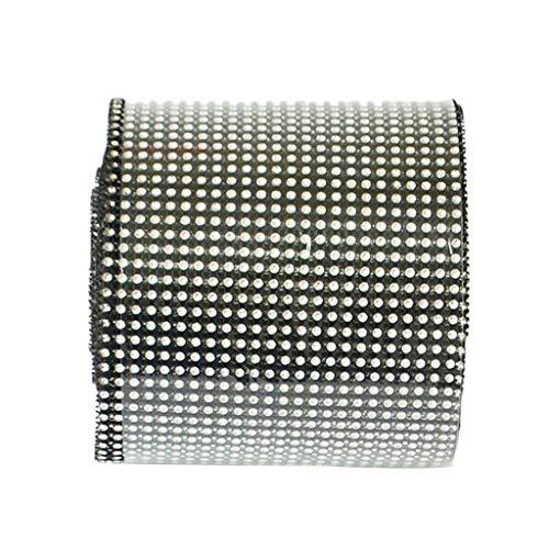 (24 Row 10 Yards Diamond Mesh Wrap Sparkle Rhinestone Crystal Ribbon DIY Trim  Color - Black )