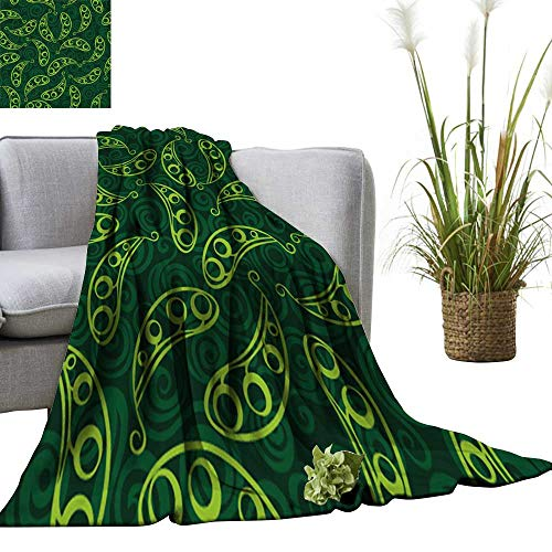 YOYI Blanket as Bedspread Pea Pod Seamless Background Cozy and Durable Fabric-Machine 50
