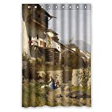 cheap hotels 80 off - Monadicase The Beautiful Scenery Landscape Painting Bath Curtains Of Polyester Width X Height / 48 X 72 Inches / W H 120 By 180 Cm Decoration Gift For Family Valentine Mother Hotel Her.