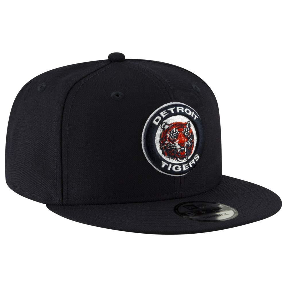 New Era MLB Detroit Tigers 9FIFTY Cooperstown Logo Pack Snapback Hat Adjustable Black Cap