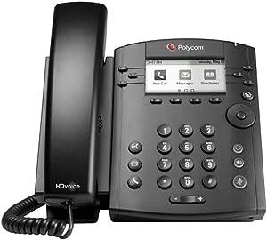Polycom VVX 310 6-line Desktop Phone, Power Supply Included (Renewed)
