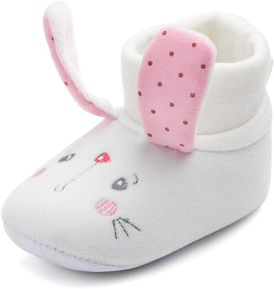 SEEYAN Newborn Baby Boy Girl Cute Animal Premium Soft Cotton Booties Infant Warm Winter First Walker Shoes