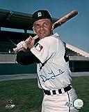 Dick Tracewski Autographed Photograph - 8X10 Pose w Bat COA - Autographed MLB Photos
