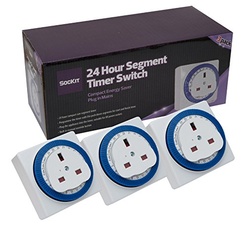 Sockit 24 Hour Segment Timer Switch - Compact Energy Saver - Plug in Mains...