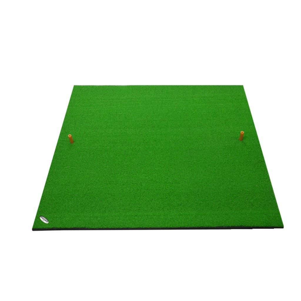ゴルフマット屋内屋外ゴルフパッド練習スイングボールパッド、ゴルフ練習マット、ゴルフ練習マットラバーティー100 * 100センチ裏庭ゴルフマット   B07SZMK1SS
