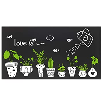 Wall Stickers Potted Plant Bonsai Bedroom Home Background Decoration PVC Art DIY