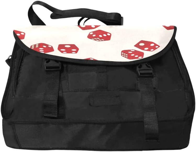 Fashion Shoulder Bag Stereo Creative Game Casino Dice Point Multi-Functional Briefcase Laptop Bag Fit for 15 Inch Computer Notebook MacBook