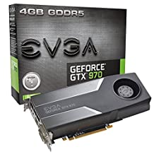 EVGA GTX 970 4GB GDDR5 256-Bit, DVI-I, DVI-D, HDMI, DP SLI Ready Graphics Card (04G-P4-1970-KR)