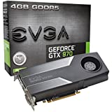 EVGA GTX 970 4GB GDDR5 256bit, DVI-I, DVI-D, HDMI, DP SLI Ready Graphics Card (04G-P4-1970-KR)