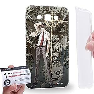 Case88 [Samsung Galaxy E7] Gel TPU Carcasa/Funda & Tarjeta de garantía - Death Note Light Yagami Ryuk 1221