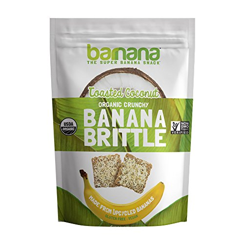 Barnana Banana Brittle, Toasted Coconut, 3.5OZ - Organic dessert cookie style snack with potassium, vitamin C, and other clean ingredients. Gluten (Coconut Sweet Cookies)