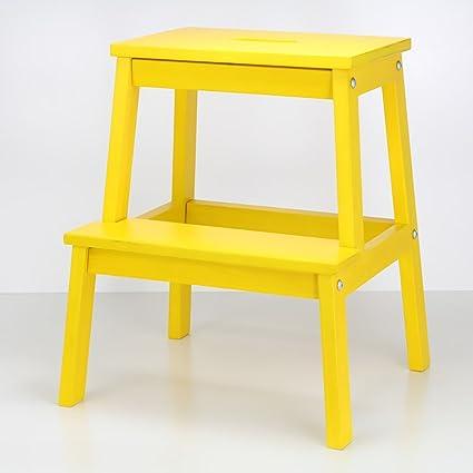 Fine Amazon Com Step Ladders Wssf Solid Wood 2 Step Stool Lamtechconsult Wood Chair Design Ideas Lamtechconsultcom