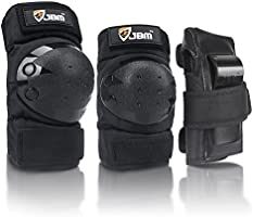 JBM Adult/Child Knee Pads Elbow Pads Wrist Guards 3 in 1 Protective Gear Set for Multi Sports Skateboarding Inline Roller...