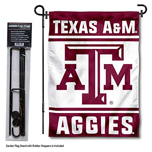 College Flags and Banners Co. Texas A&M Aggies Garden Flag with Stand Holder -