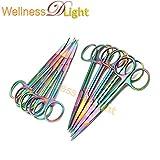 Wdl Set of 12 Multi Titanium Color Rainbow Iris Scissors 4.5'' Straight & Curved Stainless Steel