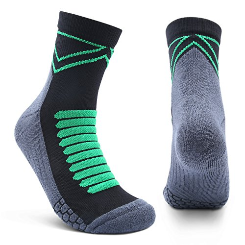 Athletic Socks,Running Socks Crew Hiking Socks Mens Womens Ankle Basketball Socks High Performance,Breathable Cool Max Tech Keep Cool Fast Dry Cushion Bottom 360°Care of Your Feet (2 Pairs) – DiZiSports Store