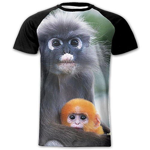 [Mens Mama Monkey Loves Baby Warm Short Sleeves Raglan Tees Dress Blouse For Home & Outside Tee 100% Polyester Eyelet Fabric] (A Team Costumes Pll)
