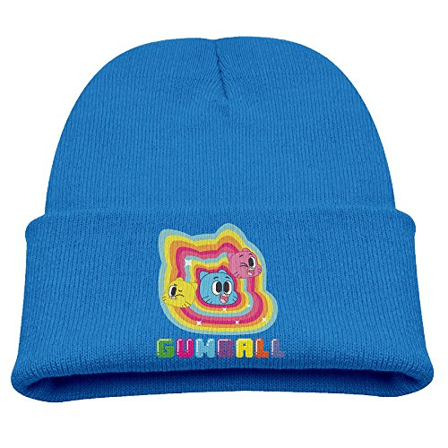 Babala The Amazing World Of Gumball Children Knitted Beanie Cap Hat Winter Skullcap Top Hat RoyalBlue -