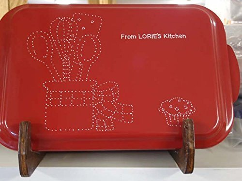 Personalized Engraved Cake Pan Red